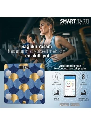 Polo Smart Psc04 Ebruli Yağ Ölçer Akıllı Bluetooth Tartı Baskül Renkli